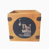"The Who Record Box  7"" Singles Vintage Wooden Crate"